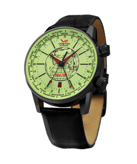 VOSTOK-EUROPE GAZ 14 WORLD TIMER LUMINOR