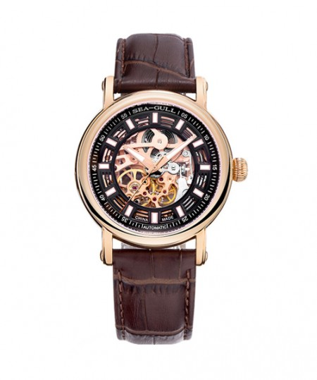 519.338K skeleton 2 automatic brown watch