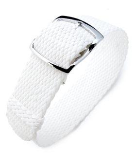 Bracelet Perlon Blanc White Strap