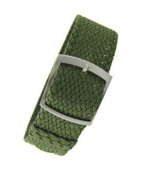 Bracelet Perlon Khaki Strap Green Vert