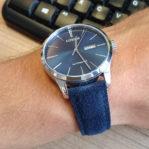bracelet bleu cuir