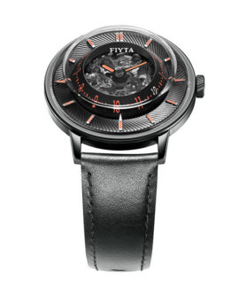 FIYTA 3D TIME BLACK ORANGE wga868001 bbb WATCH