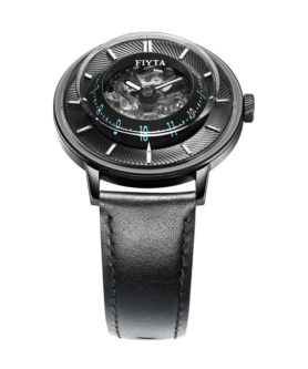 montre automatique fiyta 3d time blue wga868003 bbb