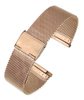 BRACELET MAILLE MILANAISE OR ROSE