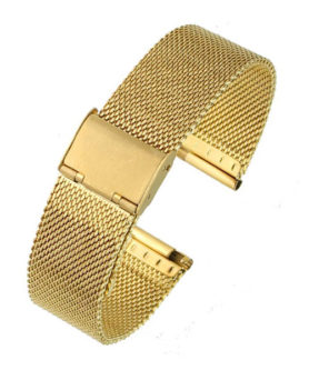 BRACELET MAILLE MILANAISE OR