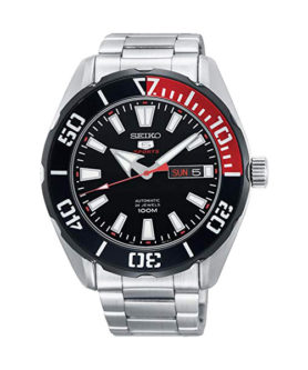 SEIKO 5 SPORT 24 JEWELS BLACK & RED