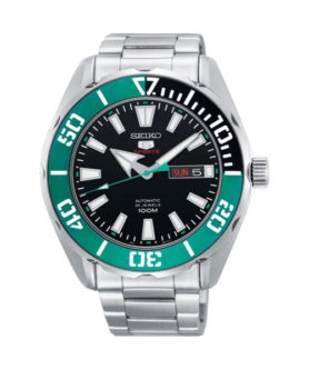 SEIKO 5 SPORT 24 JEWELS BLACK & GREEN
