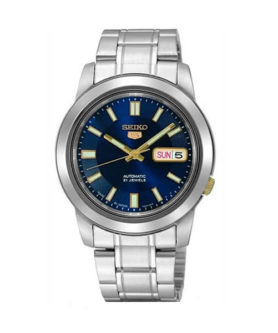 SEIKO 5 CLASSIC BLUE AND YELLOW